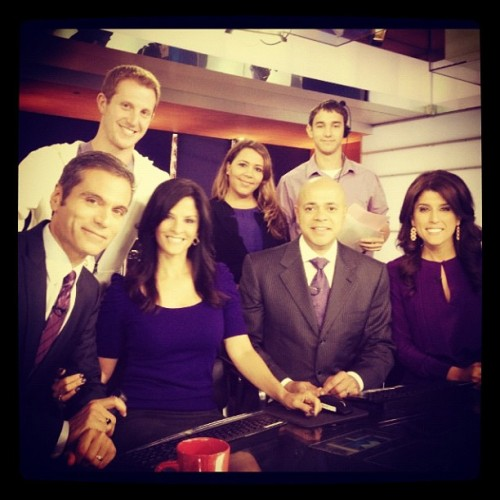 #GoPurple #NBC4NY Showing our support for LGBT youth and anti-bullying. #SpiritDay (at Studio 3C)