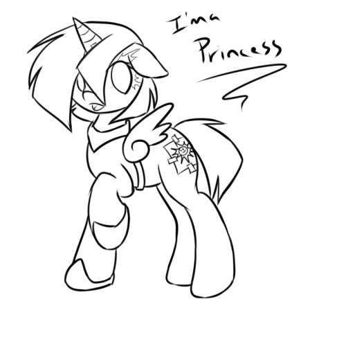 Sporkie's Nightmare Night costume… Maybe. I dunno, this amuses me more than it probably should. ;p I'll get it shaded and colored and stuff eventually.