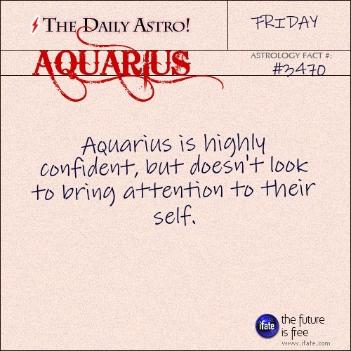 Aquarius 3470: Check out The Daily Astro for facts about Aquarius...and click here for the web's best horoscopes!