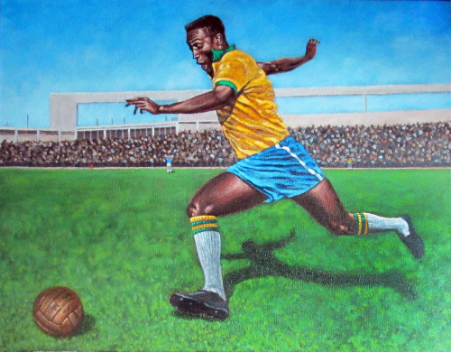 Just completed this Pele painting.