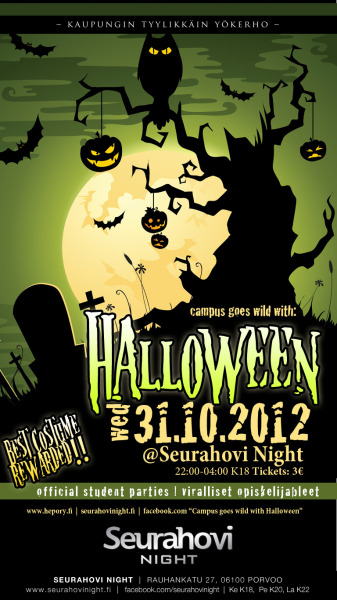 31/10/2012 Campus Goes Wild with: Halloween @Seurahovi NightJuliste + muut mainosmateriaalit