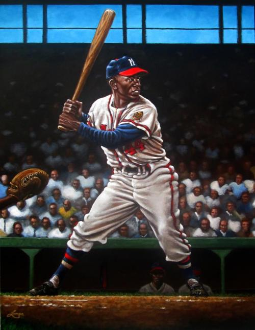 Finished my Hank Aaron painting.