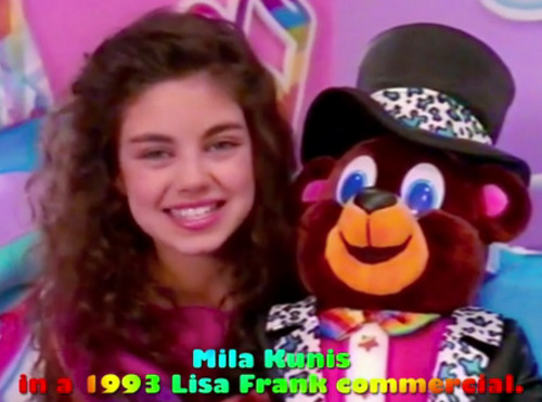 Of course Mila Kunis pulled off being a 13-year-old Lisa Frank model flawlessly. OF COURSE.