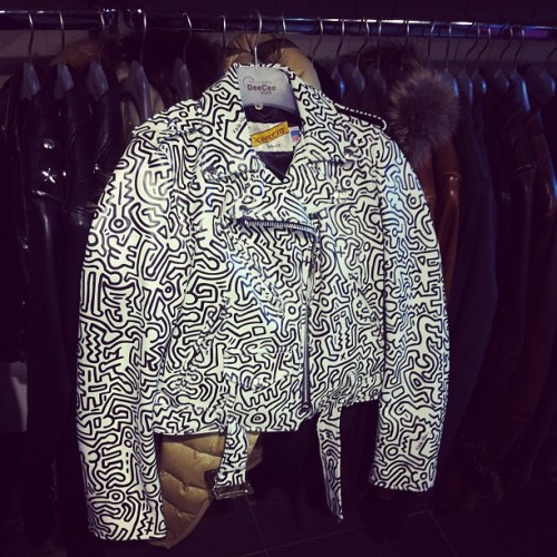 #KeithHaring x Jetemy Scott #learher jacket available at #DeeCeeStyle! #stylepedia #streetart  (at DeeCee Style)