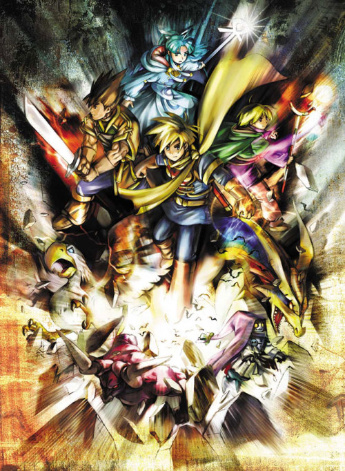 gameandgraphics:  Golden Sun original art (Game Boy Advance, 2001).