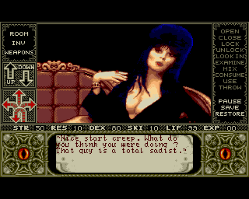 Elvira: Mistress of the Dark, Amiga.