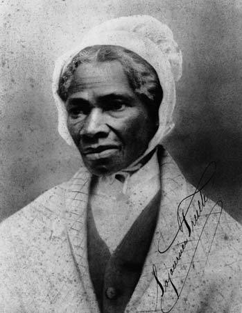 "womenwhokickass:  Sojourner Truth (Isabella Baumfree): Why she kicks ass She is an African-American abolitionist and women's rights activist, born into slavery in New York, but escaped with her infant daughter to freedom in 1826. After going to court to recover her son, she became the first black woman to win such a case against a white man.  Her best-known extemporaneous speech on gender inequalities, Ain't I a Woman?, was delivered in 1851 at the Ohio Women's Rights Convention in Akron, Ohio. During the Civil War, Truth helped recruit black troops for the Union Army; after the war, Truth tried unsuccessfully to secure land grants from the federal government for former slaves. Late in 1826, Truth escaped to freedom with her infant daughter, Sophia. She had to leave her other children behind because they were not legally freed in the emancipation order until they had served as bound servants into their twenties. When Truth learned that her son Peter, then five years old, had been sold illegally by her previous enslaver to an owner in Alabama, she took the issue to court and, after months of legal proceedings, got back her son, who had been abused by his new enslaver. On June 1, 1843, Truth changed her name to Sojourner Truth and told her friends, ""The Spirit calls me, and I must go."" She became a Methodist, and left to make her way traveling and preaching about the abolition of slavery.  In 1844, she joined the Northampton Association of Education and Industry in Northampton, Massachusetts. Founded by abolitionists, the organization supported women's rights and religious tolerance as well as pacifism. There were 210 members and they lived on 500 acres (2.0 km2), raising livestock, running a sawmill, a gristmill, and a silk factory. Truth started dictating her memoirs to her friend Olive Gilbert, and in 1850 William Lloyd Garrison privately published her book, The Narrative of Sojourner Truth: A Northern Slave. That same year, she purchased a home in Northampton for $300, and spoke at the first National Women's Rights Convention in Worcester, Massachusetts. Over the next decade, Truth spoke before dozens, perhaps hundreds, of audiences. From 1851 to 1853, she worked with Marius Robinson, the editor of the Ohio Anti-Slavery Bugle, and traveled around that state speaking.  In 1856, she traveled to Battle Creek, Michigan, to speak to a group called the Friends of Human Progress. In 1858, someone interrupted a speech and accused her of being a man; Truth opened her blouse and revealed her breasts."