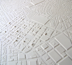 paper construction : Stephanie beck Detail,Townships, cut paper, glue, 12 x 12 in., 2008