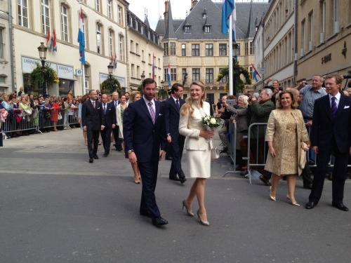 Prince Guillaume and Stéphanie de Lannoy, Civil wedding, October 19,2012.