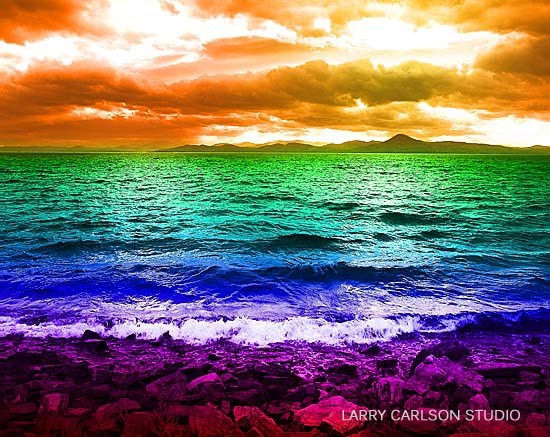 LARRY CARLSON, RAINBOW BEACH, 11 x 14in., digital photography, 2009. http://www.etsy.com/listing/63580171