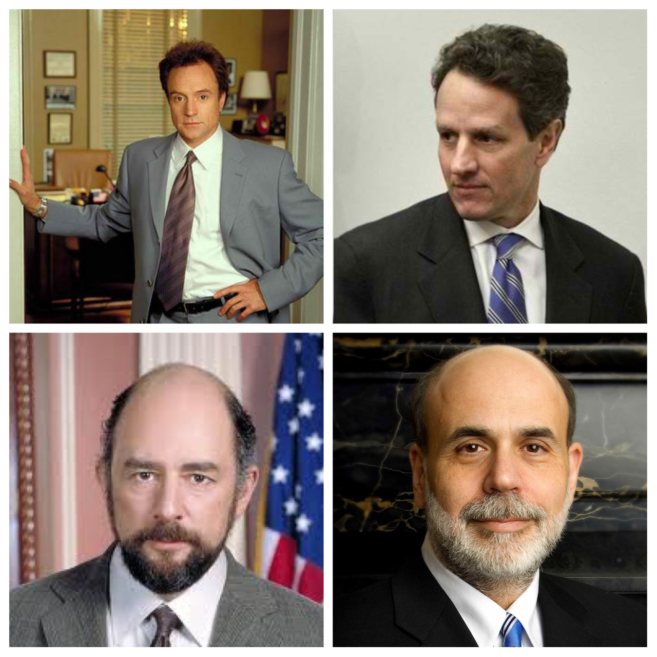 "thatgeeklover's dream cast for Timothy Geithner and Ben Bernanke in The Newsroom  A.K.A seriously lame excuses to watch them together again.  A.K.A reasons to hear ""secret plan to fight inflation"" again.  A.K.A can only work if I have a TARDIS."