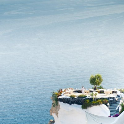 Fancy - Santorini. Set for Dinner.