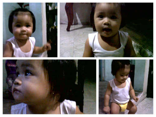 Energetic parin ang Pamangkin ko sa mga oras na ito!  She is my another reason why I never get tired after work. Meet Hannah! :)