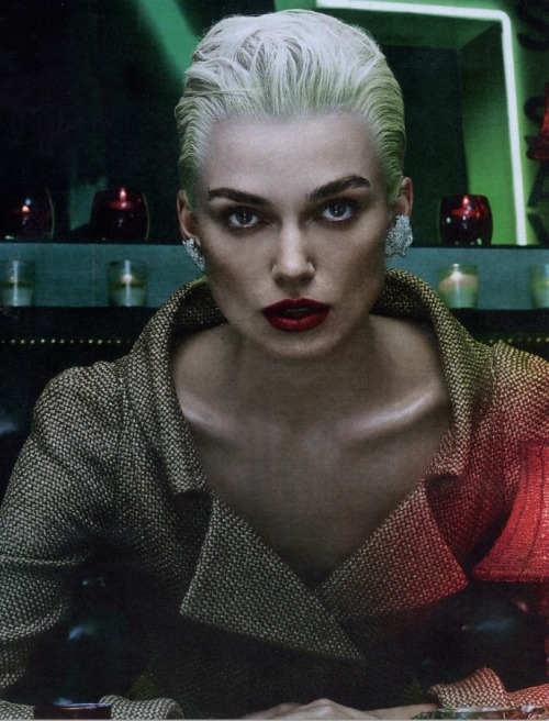 A platinum Keira Knightley from the november issue of @wmag (yes.)