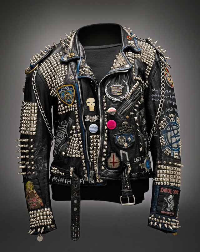 Punk jacket, c. late 1970s-early 1980s. (via Worn to be Wild at EMP - Galleries - MyNorthwest.com)