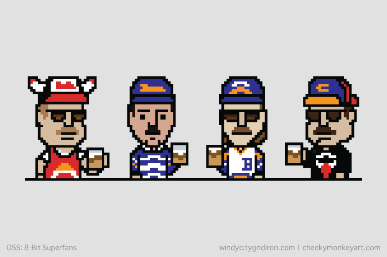8-bit Superfans | Purchase this on a coffee mug, as wall art, or on a t-shirt.