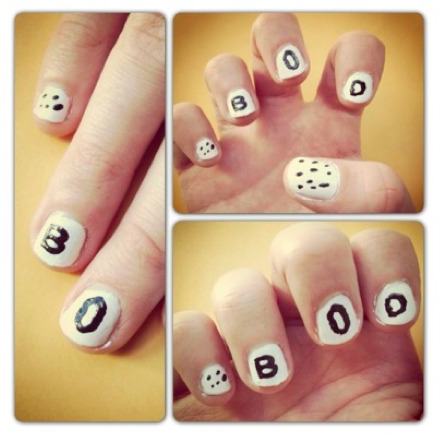 GL's 13 Days of Spooktacular Nails kicks off with this boo-tiful pick. Get the how-to at girlslife.com.