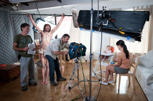 jesus-everywhere:  Jesus As A Boom Mic Operator by The Nomad