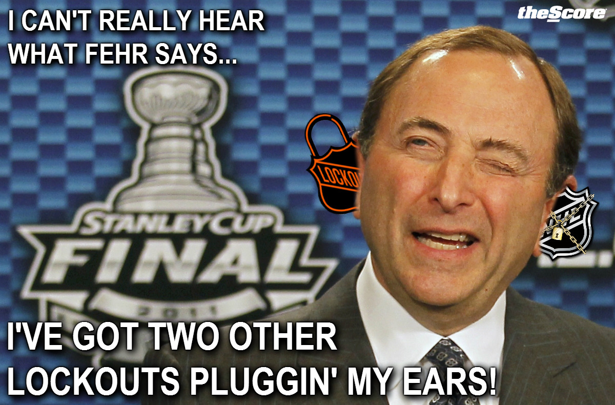 #NHL Commissioner Gary Bettman has perfectly good reason why an agreement hasn't been reached yet.