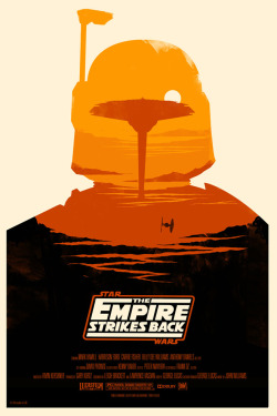 """The Empire Strikes Back"" by Olly Moss"