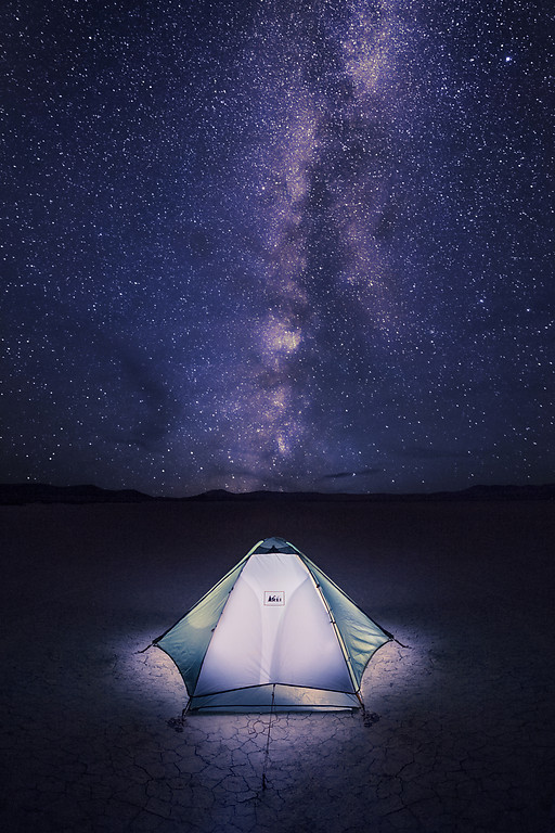 "Alex Noriega Photography:  ""Our Place in the Cosmos"" My camp on Oregon's remote Alvord Desert playa, with the Milky Way galaxy overhead."