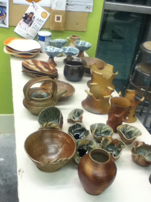 Some of the beautiful pieces out of the wood kiln.