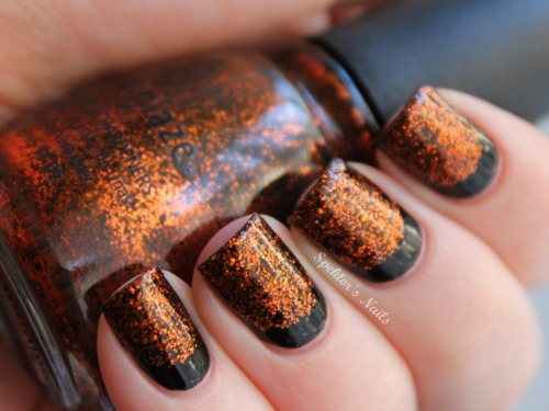 Halloween Ruffian Nails with China Glaze - Ick-A-Bod-Y