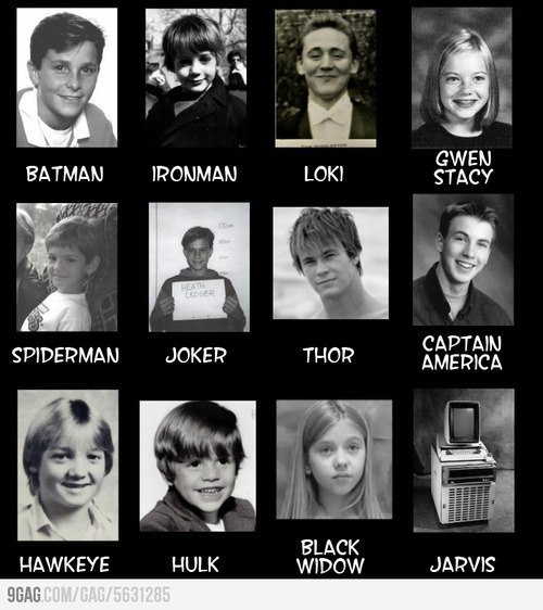 great-beams-of-plasma:   Little superheroes.  Oh my God! Baby Hawkeye xD  Goodness, how embarrassing.