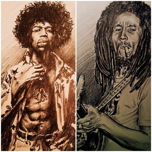 Prints? Or no? #bobmarley #jimihendrix #art #sketch