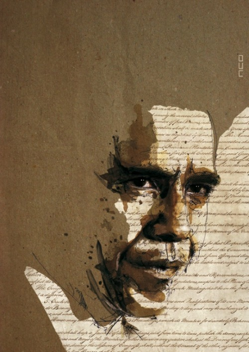 Barack Obama, in watercolor and ink, by Florian Nicolle I picked this image for obviously seasonal reasons, but clickthrough to check out the rest of this guy's work… really quite beautiful.