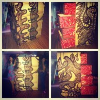 Hand painted… mini dresser, art work done by sister :)selling this one of a kind piece for $75