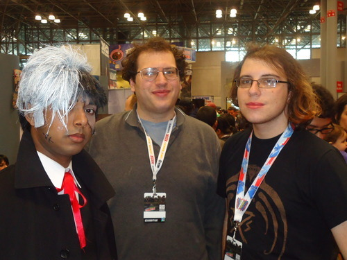 Photo of Vertical, Inc. interns with a Black Jack cosplayer at New York Comic-Con 2012.