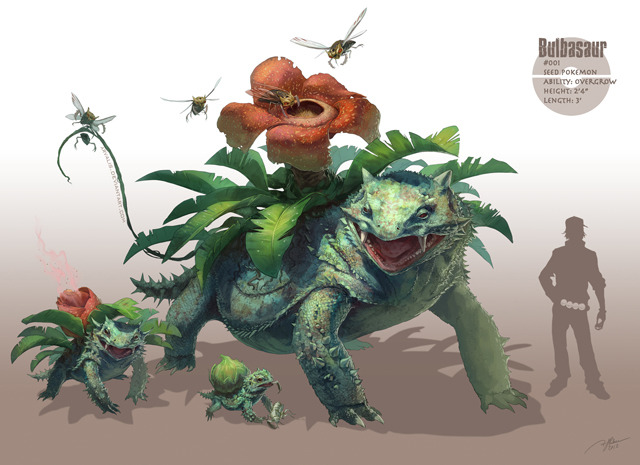 I found my new idol! (via Realistic Pokemon Video Game Character Illustrations by R.J. Palmer)