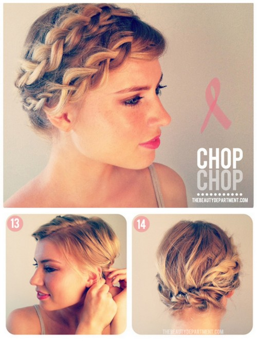 DIY Braiding Short Hair Tutorial from The Beauty Department here. Photos by Kristin Ess.