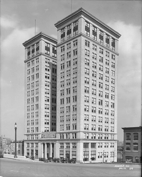 Standard Oil BuildingSt. Paul Street and Franklin Street, Baltimoreca. 1922Hughes CompanyBaltimore City Life Museum CollectionMaryland Historical SocietyMC6628 A Built in 1922, this Beaux Arts building has gone from office space to luxury apartments.  Standard Oil building on Google Street View:   View Larger Map