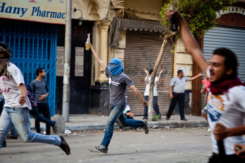 5 October 2012 - Molotovs on Mohamed Mahmoud