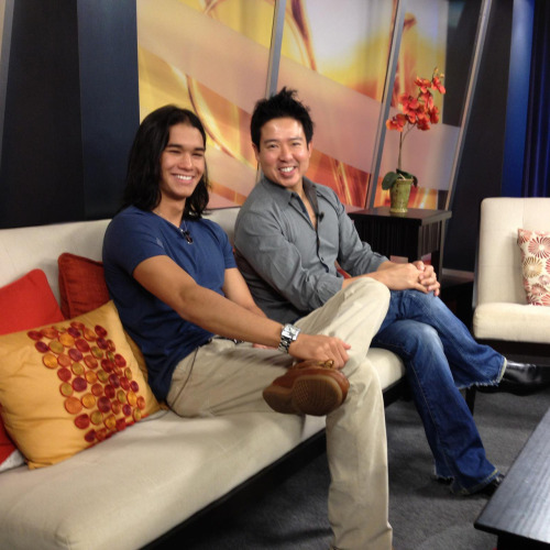 Booboo Stewart and Quentin Lee on Hawaii News Now discussing the Hawaii premiere of White Frog.