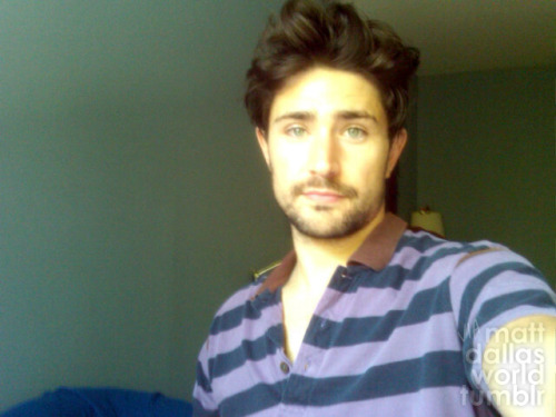 Matt Dallas for @pawspeaches  mattdallasworld:  Hope you're all wearing your purple for GLAAD Spirit Day… MDW main site . Twitter . Facebook Page . YouTube Channel . Pinterest (Photo: via Matt Dallas, Spirit Day 2011)