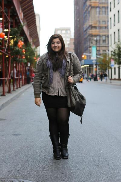 humansofnewyork:  Given the unbelievable amount of attention the yesterday's post has gotten, Stella has (quite fairly) asked me to post my portrait of her, along with some context. Hope everyone takes a second to imagine what it's like to have tens of thousands people viewing / supporting / judging / commenting on you at one time.  About Stella: I struggled with body image my whole life. As a young teen, I was diagnosed with Polycystic ovarian syndrome. PCOS makes it incredibly hard to lose weight, and spikes up your insulin levels which can lead to diabetes and other complications. I felt like I was just getting bigger and bigger and could do nothing to stop it. I was so awkward and uncomfortable with what I looked like that I began to self-medicate in the way most teenagers do, except it was to a scary excess. Finally, my parents intervened and when I was 15 I got the help I needed. The past 2 and a half years have essentially been a struggle to come to terms with who I am and live life in a constructive, not destructive manner. A couple weeks ago, I started a blog, just as a way to get out my thoughts and feelings. I found the body acceptance movement online, and it was like my eyes were open for the first time. I realized that my size or weight is not something to be ashamed of, it is a part of me. Health and weight are not synonymous, and I know that to be healthy means to manage my sobriety and PCOS the best that I can. I may not ever be thin, but that's okay. It's all about progress, not perfection. So I posted a picture of myself in my underwear with a message to all the people who'd ever bullied me about what I looked like. Amazingly, in less than a week, it got over 50,000 likes and reblogs. It's upwards of 80,000 now, and the response has been 90% positive, I would say. Two friends of mine, Savanna and Lucy, are in the process of planning a documentary on sizeism and its effect on young girls. My dream is to go back to my middle school, where all my body image issues began, and work with young girls on the issues of self-esteem, body image, sizeism, and bullying. I want to give these girls something I never knew, which was that your body does not define who you are as a person. To people who judge people on their size, weight, pants size or health - shame on you. No one is the authority on beauty, and everyone has a different road to trudge to happy destiny.  STELLA'S BLOG: http://thebodyloveblog.tumblr.com/