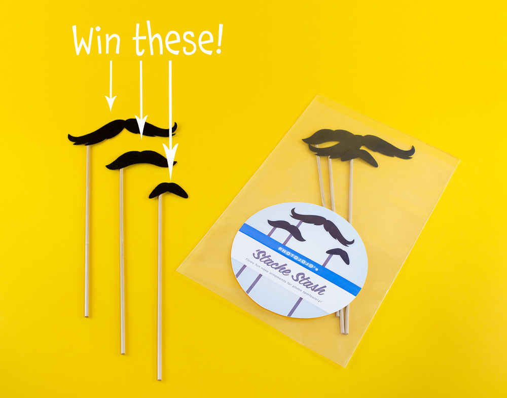 We're giving away two sets of our photobooth mustaches today to one winner! That means if your friend enters, you get an even better chance of winning, w00t. Enter by simply Liking Photojojo on Facebook. Win 2 Photobooth Mustache Sets on Photojojo's Facebook!