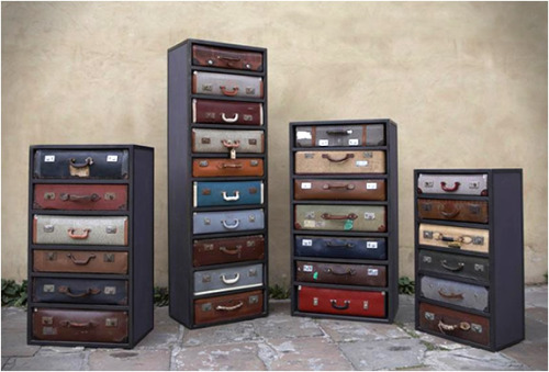 laughingsquid:  Vintage Suitcase Dressers by James Plumb