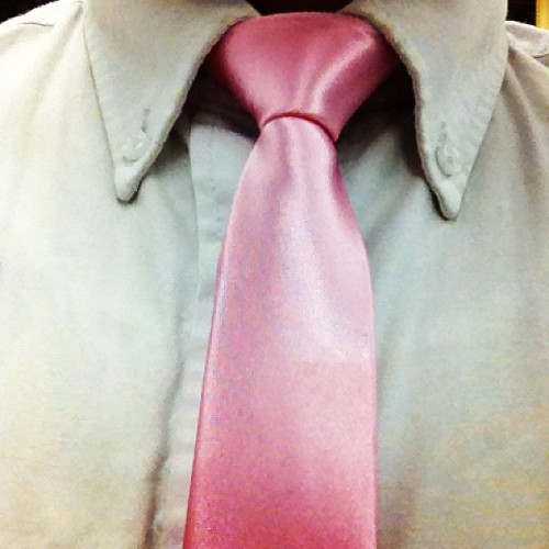 Pink tie kind of day, support breast cancer awareness