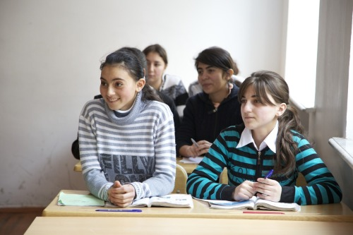 Students eager to learn English in Azerbaijan - 2010