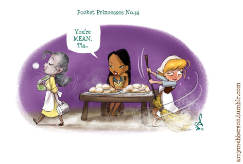 amymebberson:  Pocket Princesses 34: Beignets  Reblog please, don't repost.