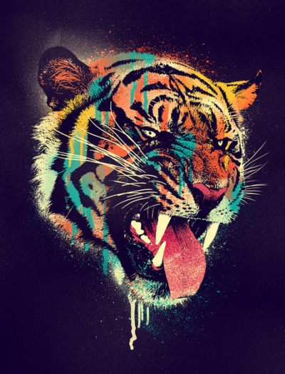 Ferocious tiger by dzeri29