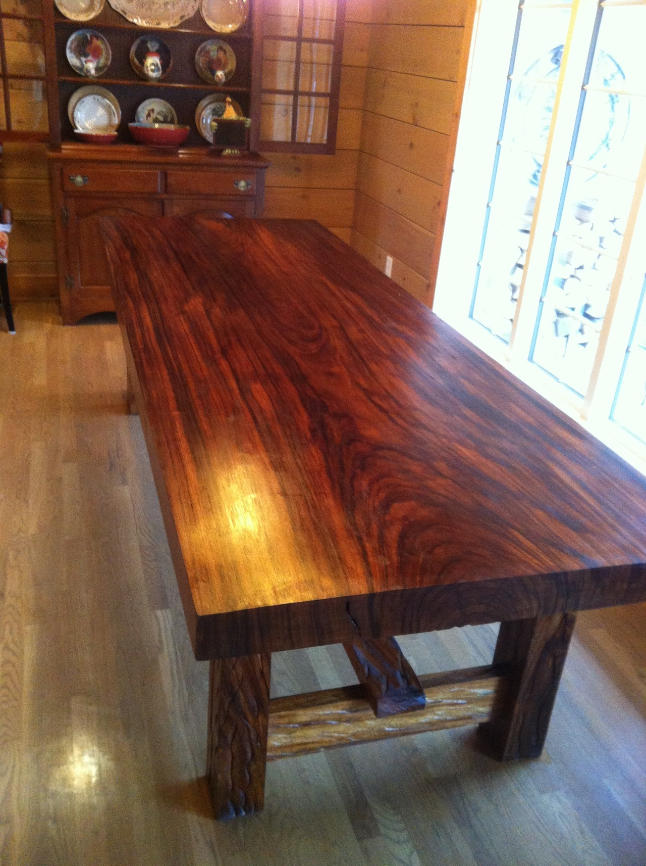 Just delivered this one of a kind table to Bowling Green, KY.  It was made by the Mission Lazarus vocational carpentry school in Honduras. Stop by our warehouse in Nashville and see what else we have!