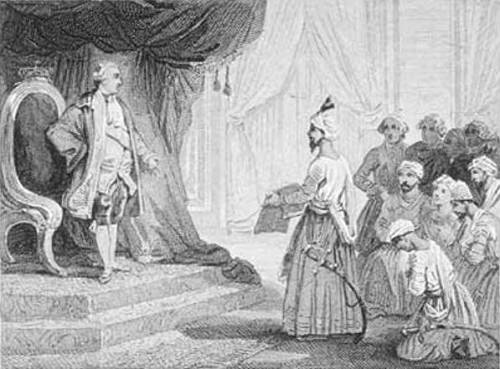 Louis XVI Receives The Ambassadors Of Tipu Sultan 1788