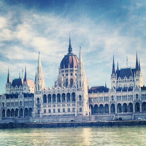 Hungarian Parliament Building in #Budapest on the blue Danube.
