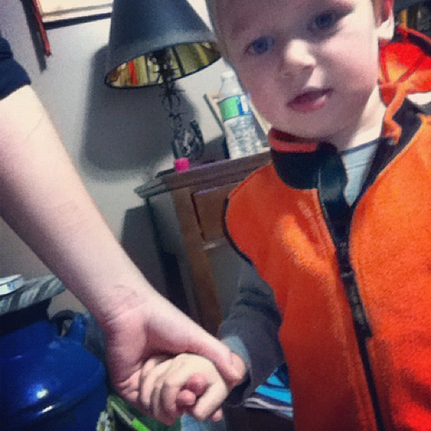When a kid holds your hand <3