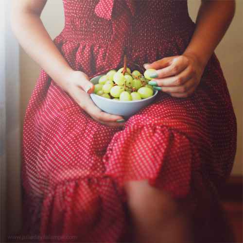 "raspberrytart:  ""What I do and what I dream include thee, as the wine must taste of its own grapes."" (by Chaulafanita [www.juliadavilalampe.com])"